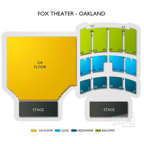 fox theater oakland  fox theater oakland seating chart vivid seats