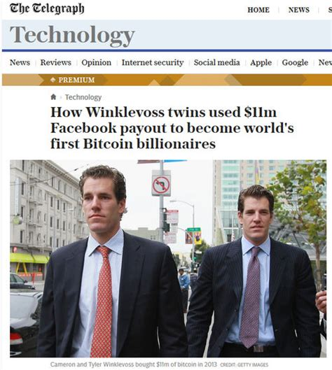 The twins used the money to invest in bitcoin when it was priced at between $8 and $120 per coin 'cool' that mark zuckerberg & facebook are building a cryptocurrency the winklevoss twins said it. 初の「Bitcoin億万長者」になったのはFacebookとの訴訟で50億円を勝ち取ったウィンクルボス兄弟 - GIGAZINE