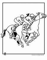 Coloring Derby Kentucky Stake Template Sheets Horse Hat Printable Racing sketch template