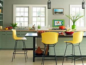 Best colors to paint a kitchen pictures ideas from hgtv for Kitchen cabinet trends 2018 combined with marimekko fabric wall art