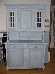 Meuble Repeint En Gris Perle : meuble ancien patin gris tendance peinture et patine ~ Dailycaller-alerts.com Idées de Décoration
