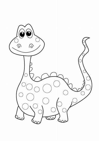 Dinosaur Coloring Easy Preschool Printable Dino Craft