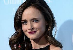 Alexis Bledel wore black and gold layered perfection at ...  Alexis