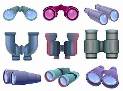 Binoculars Binoculares Cartoon Verrekijker Jumelles Dibujos Zestaw