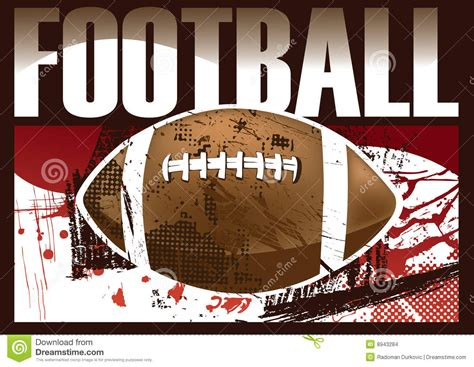 american football poster stock images image