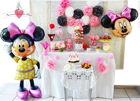 anniversaire theme minnie candy bar sweet table buffet