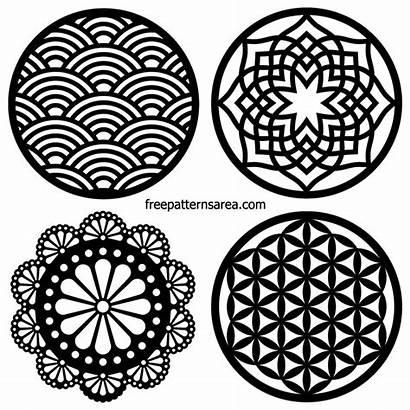 Laser Circle Coaster Cut Dxf Vector Designs