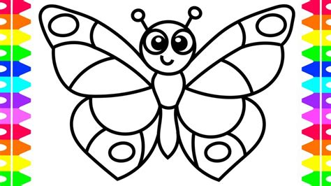 learn   draw  butterfly easy coloring pages