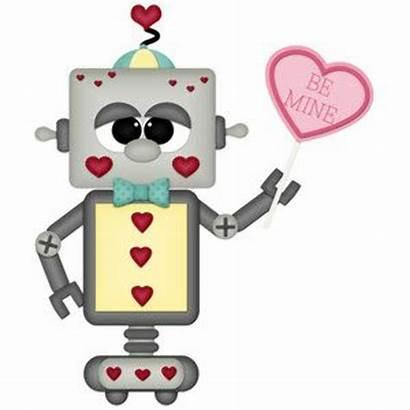 Robot Valentine Clipart Robots Valentines Silhouette Clip