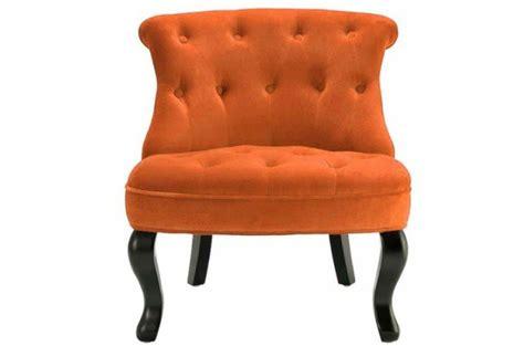 fauteuil crapaud velours orange antoinette fauteuils classiques pas cher