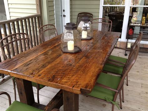 Barn Wood Tables For Sale by Made Reclaimed Trestle Table By Elias Custom