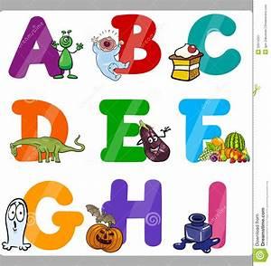 education cartoon alphabet letters for kids stock vector With alphabet letters for toddlers