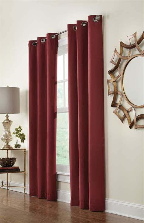 home decorators collection grommet red 40 x 108 the