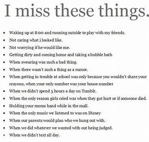 Daily Quotes: I Miss These Things ~ Mactoons Inspirational ...