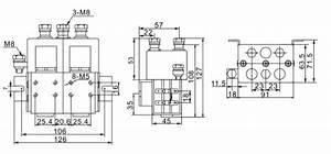 200a Dc Reversing Contactor  2 Pole  12v  24v  48v