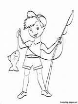 Fishing Coloring Rod Boy Pole Printable Gun Getcolorings Season Pag sketch template