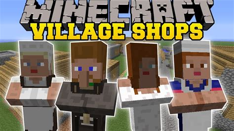Minecraft: BETTER VILLAGE SHOPS (MORE VILLAGERS, BUILDINGS ...
