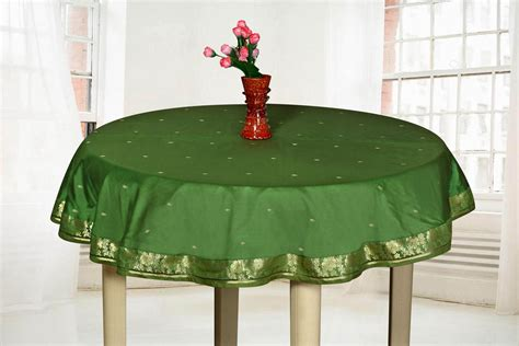 Forest Green  Handmade Sari Tablecloth (india)  Round Ebay