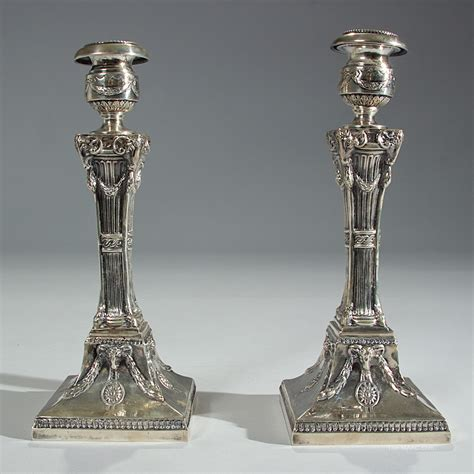 silver candle holders antique sterling silver candle holders manhattan and