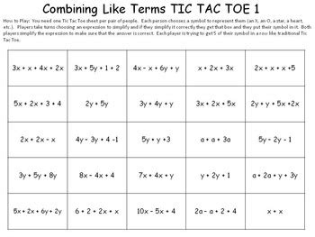 combining like terms by idea galaxy teachers pay