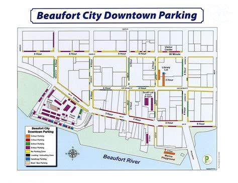 downtown beaufort parking map