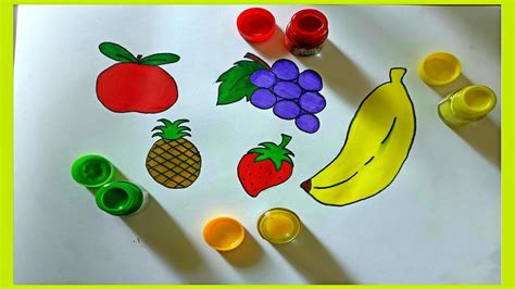 draw fruits  kids drawing coloring  kids