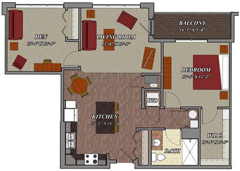 1 Bedroom 1 Bathroom Den Style C2