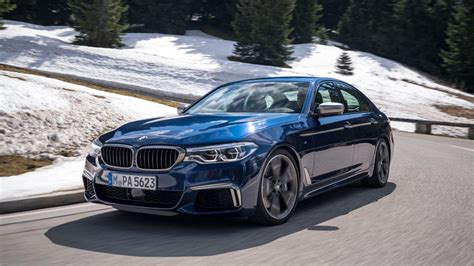 Bmw M550i Review by Bmw M550i Xdrive Review 462bhp V8 5 Series Tested Top Gear