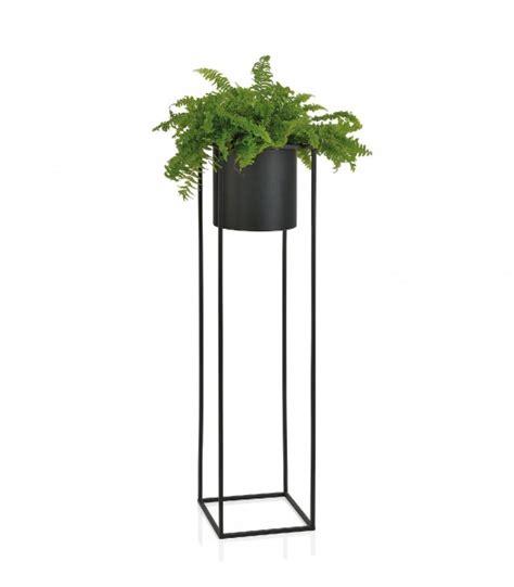 Cache Pot Sur Pied Cache Pot Sur Pied En M 233 Tal Noir Hauteur 100cm