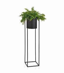 Cache Pot Sur Pied : cache pot sur pied en m tal noir et dor hauteur 120cm ~ Premium-room.com Idées de Décoration