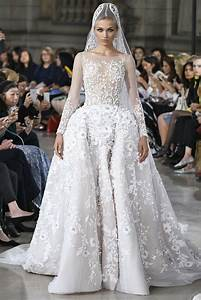 Picture Of Georges Hobeika floral wedding gown with