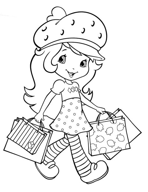 Strawberry Shortcake Cake Coloring Pages Get Coloring Pages