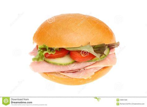 ham salad roll stock image image of tomato food lettuce