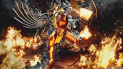 Mortal Kombat Scorpion Background Wallpapers 4k Mk11