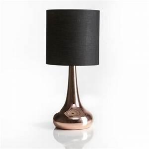 Lampe De Chevet Cuivre : lampe poser m tal touch 33cm cuivre noir ~ Teatrodelosmanantiales.com Idées de Décoration