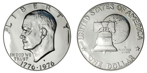 specifications eisenhower silver dollars 1976 s eisenhower bicentennial dollar type 1 low relief bold lettering coin value prices