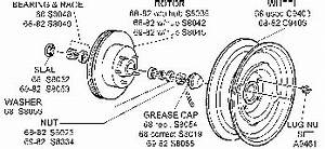 front suspension brake rotor spindle related 1968 82 With brake rotor diagram