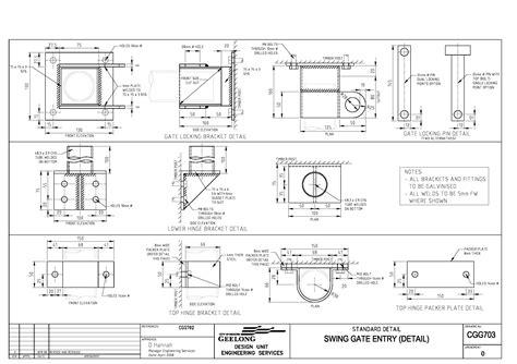 civil engineering standard drawings cgg swing gate