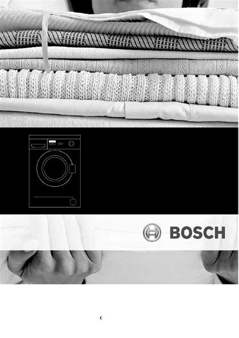 bosch waschmaschine fehler 16 bedienungsanleitung bosch waa28260 classixx 5 seite 1