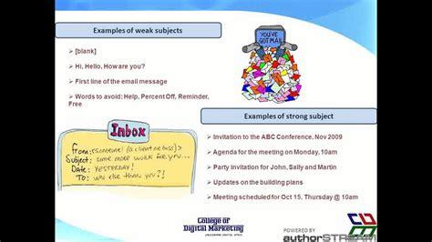 digital marketing college college of digital marketing email etiquette ppt