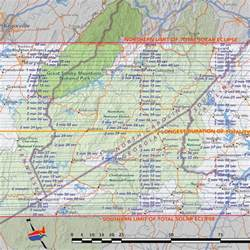 2017 Eclipse Tennessee Smoky Mountains Map