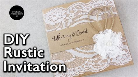How to make a rustic style lace wedding invitation DIY