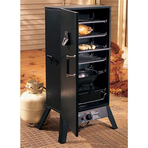 gas smoker smoke hollow 174 deluxe gas smoker 126769 grills smokers at sportsman s guide