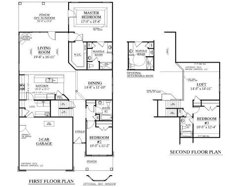 house plan  kingstree floor plan traditional