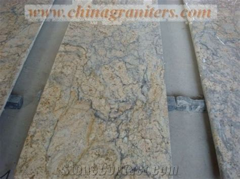Giallo Diamond Flower Yellow Granite Kitchen Countertops