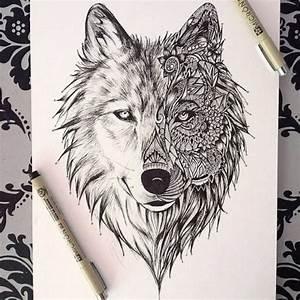 Loup Tatouage Geometrique : les 25 meilleures id es de la cat gorie dessin loup sur pinterest origami wolf loup ~ Melissatoandfro.com Idées de Décoration