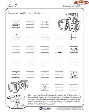 writing  alphabet worksheets    printable