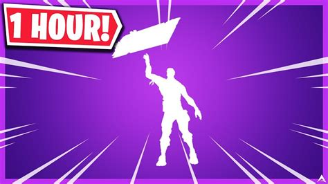 fortnite sign spinner emote  hour youtube
