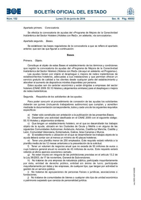 convocatoria para la concesión de ayudas del programa de