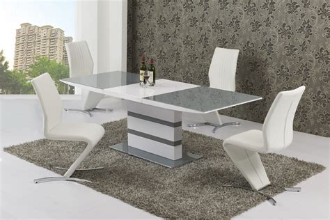 8 seater glass dining table large extending 8 seater gloss grey glass dining table